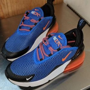 Nike Air 270 Max in Racer Blue and Crimson